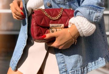 Wiosenna stylizacja: jeansowa koszula i sweter+szorty? Co z tego wyszło? =)